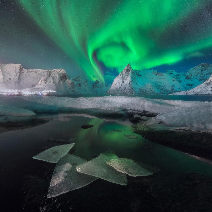 Северное торнадо, © Даниэль Кордан / Daniel Kordan, Россия, 2 место в номинации «Пейзаж — ночь», Фотоконкурс 35AWARDS — 100 Best Photos