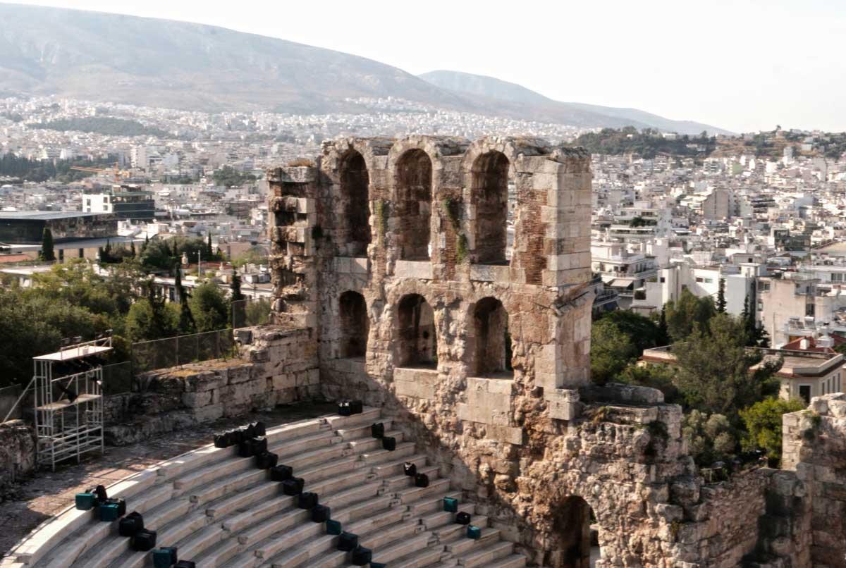Саида Евтых «Древний амфитеатр Одеон Герода Аттического», Греция, Афины, 2018