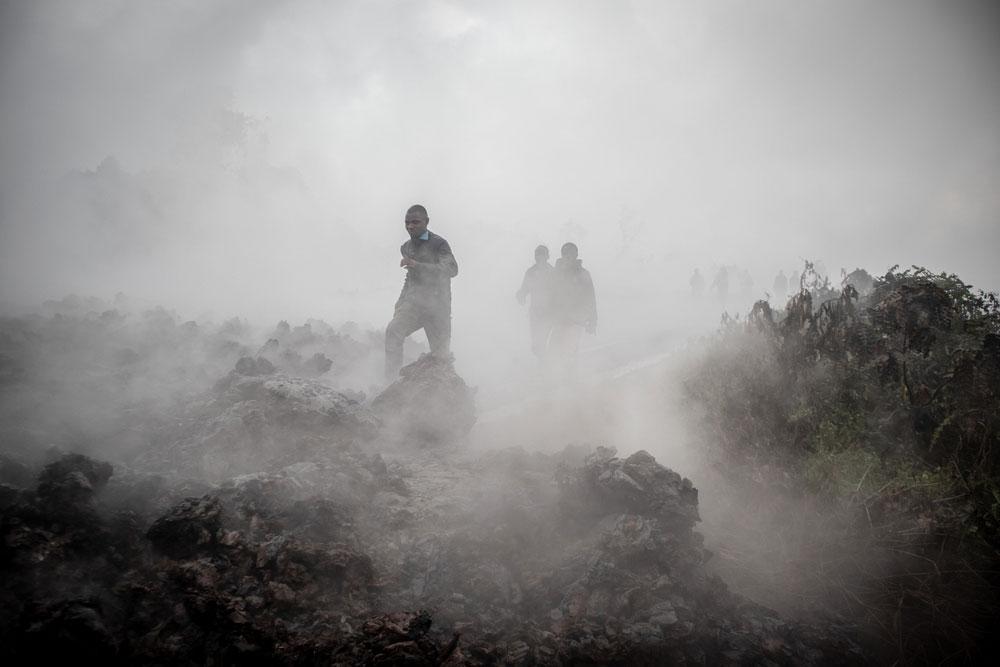 Извержение вулкана Ньирагонго, автор Гершом Ндебо, Конго