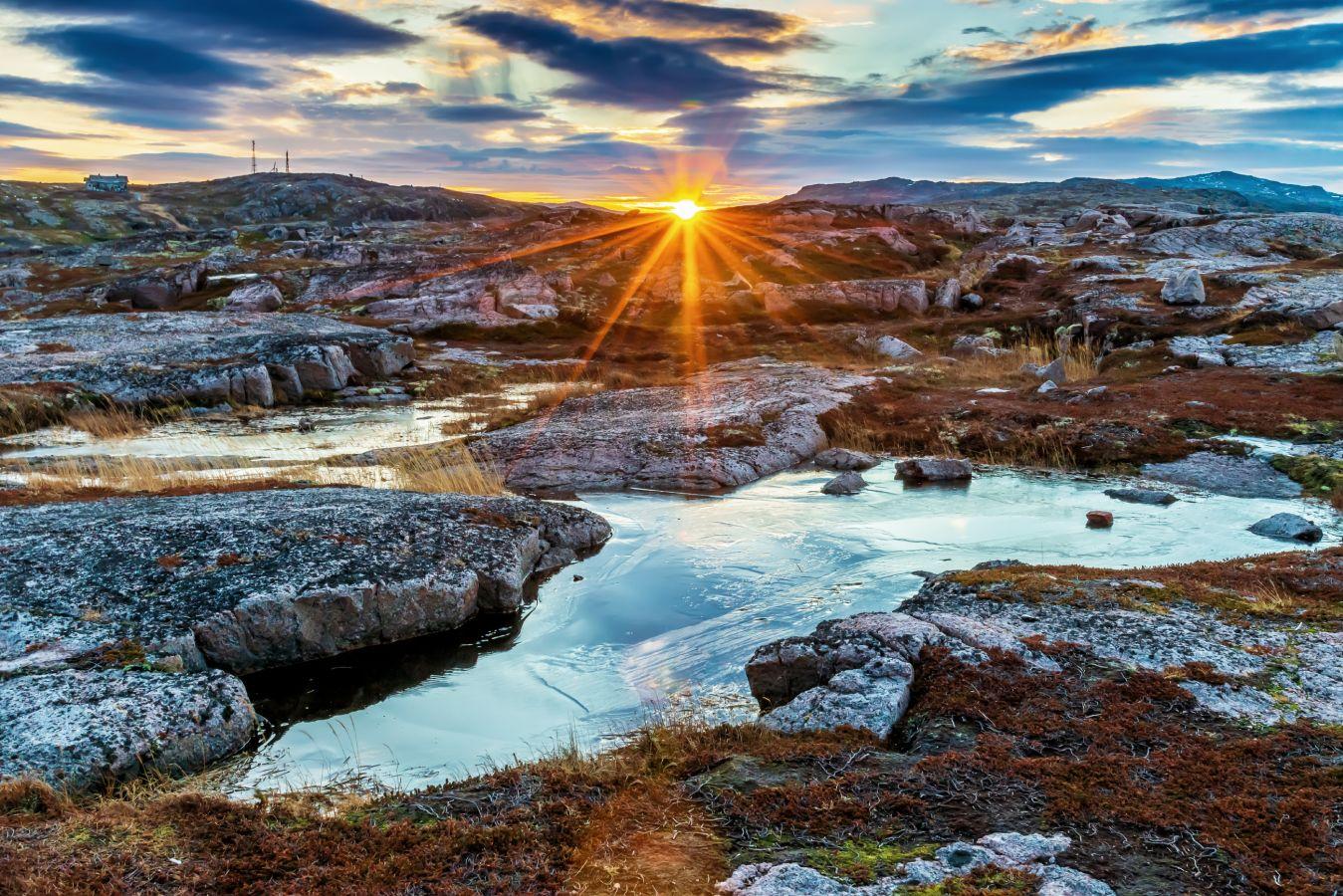 «Краски северного заката». Автор: Владимир Иванов