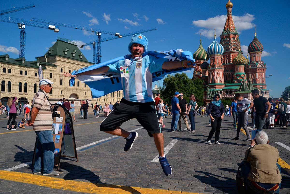 «Болельщик на Красной Площади.», Елена Белова