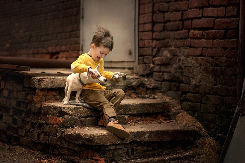 Полянина Елена / Друг детства, 1 место в категории «Москва и москвичи. Комфортный город», Фотоконкурс «Планета Москва»
