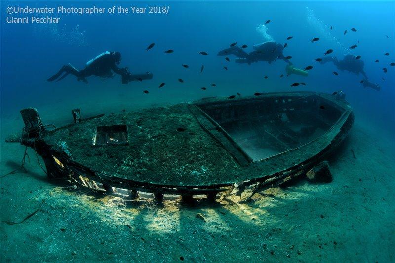 Джанни Печчиар, Италия / Gianni Pecchiar, Italy, 2-е место в категории «Обломки», Фотоконкурс «Подводный фотограф года 2018»