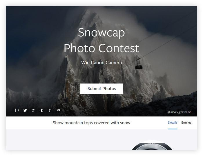 Фотоконкурс Viewbug «Снежная шапка»