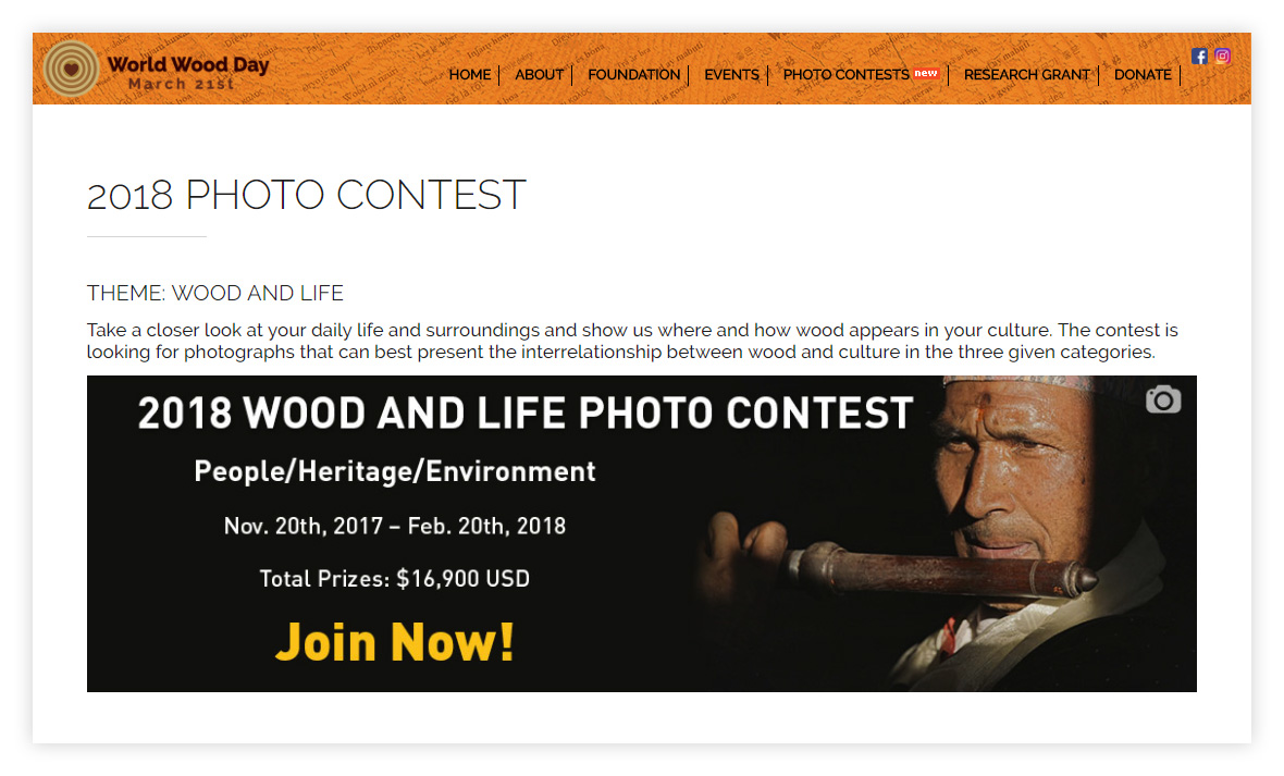 Фотоконкурс Wood and Life Photo Contest