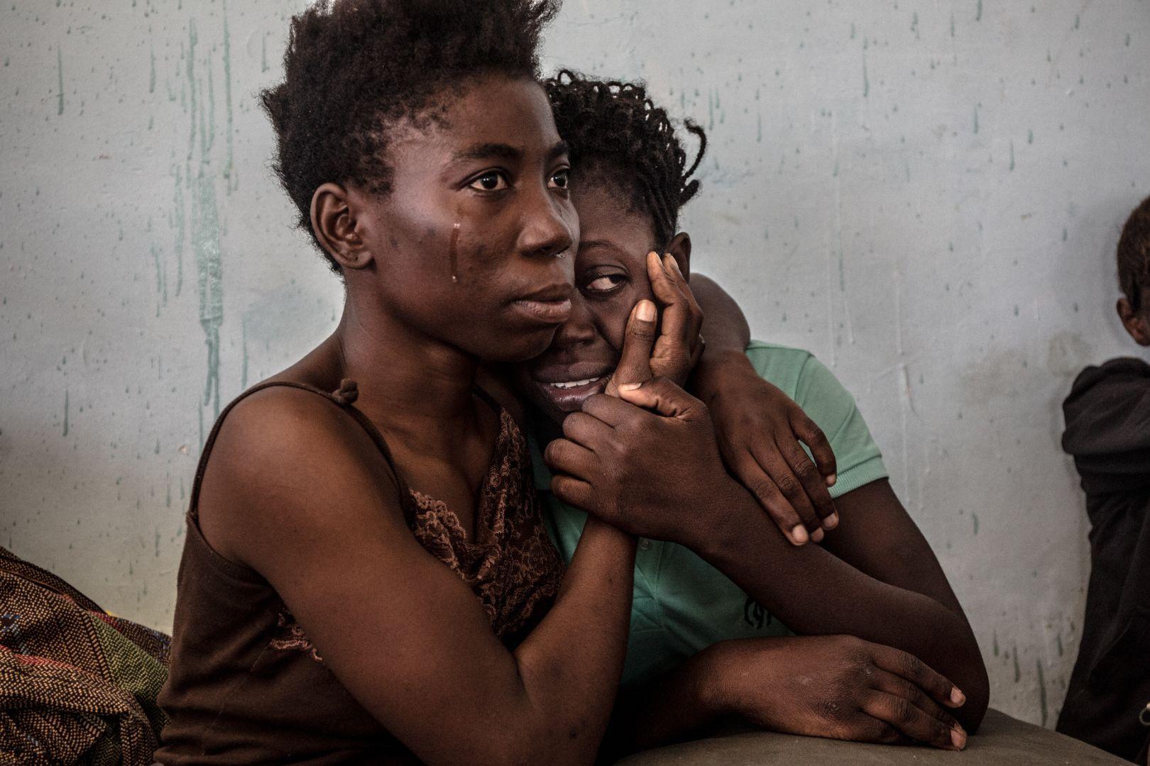 Ливийская пойманная мигрантка, © Даниэль Эттер, Германия, Фотоконкурс World Press Photo