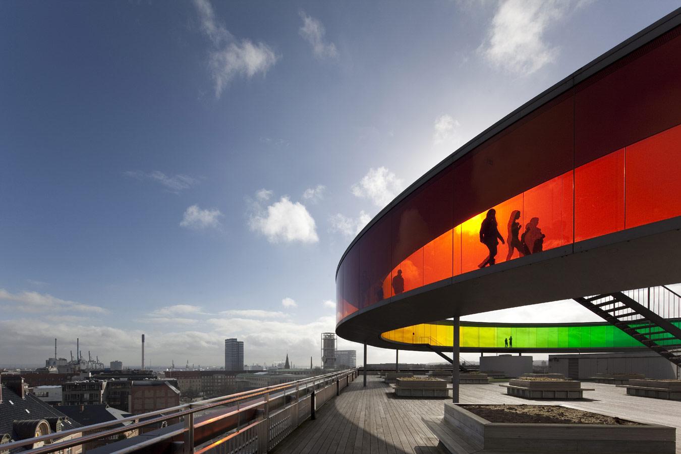 © Дэвид Борланд (David Borland), Художественный музей ARoS в Орхусе (Дания). Архитекторы: schmidt hammer lassen / Olafur Eliasson, Конкурс «Архитектурная фотография»