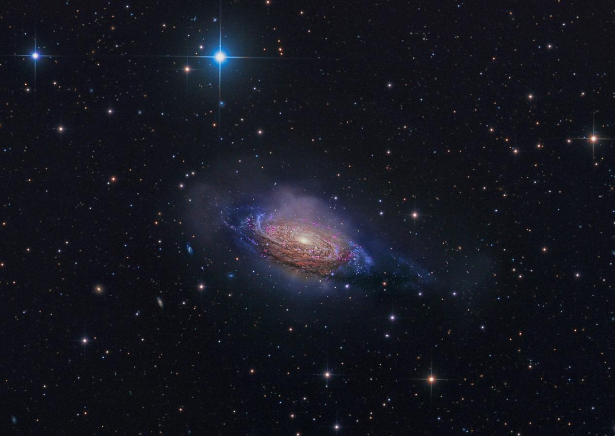 NGC 3521 — таинственная галактика, © Стивен Мор, Победитель категории «Галактики», Конкурс астрофотографии Astronomy Photographer of the Year