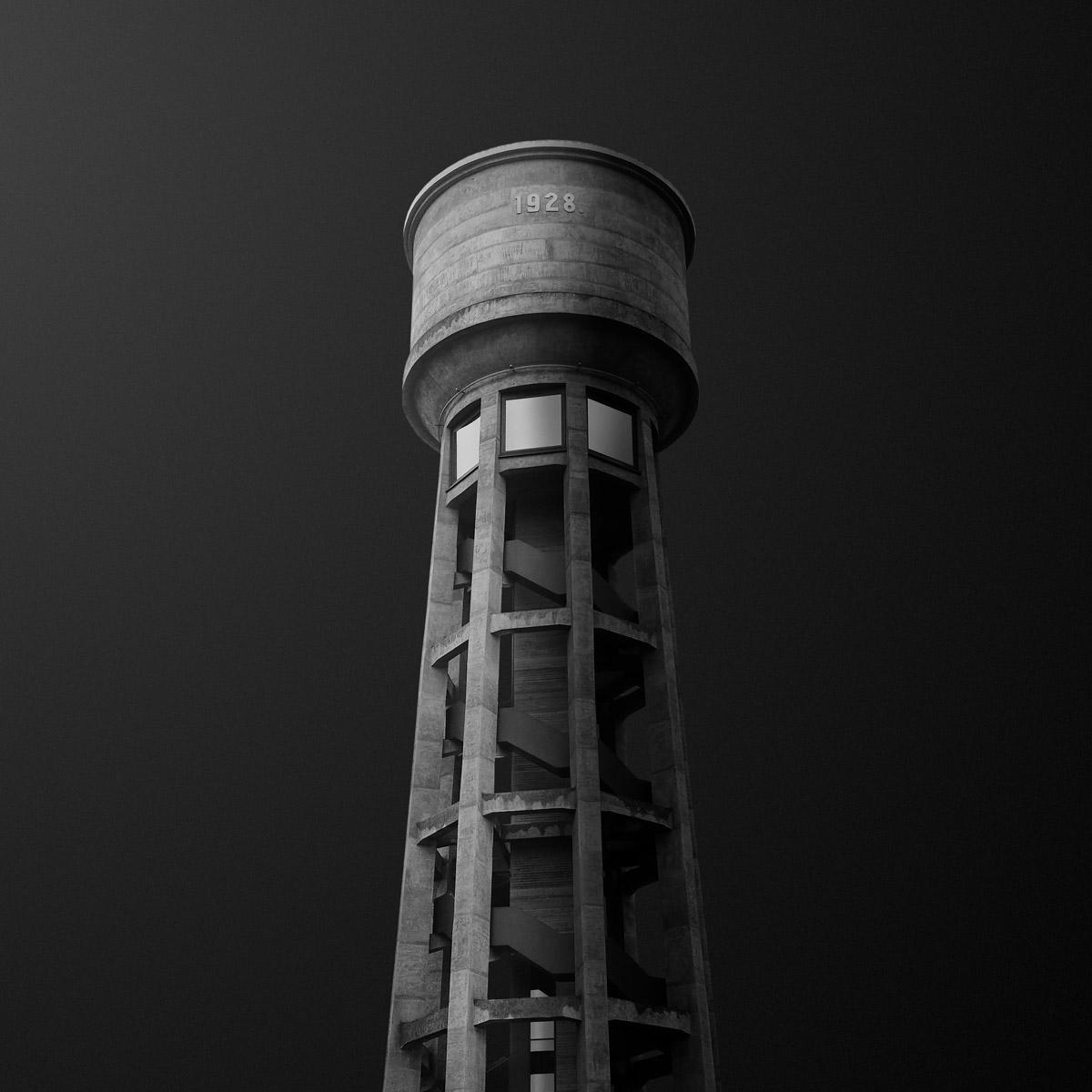 Водные башни Люксембурга, © Гедиминас Карбаускис / Gediminas Karbauskis, Люксембург, Второе место, Фотоконкурс «Чёрно-белая фотография» — Black & White Photography Awards — Журнал Dodho