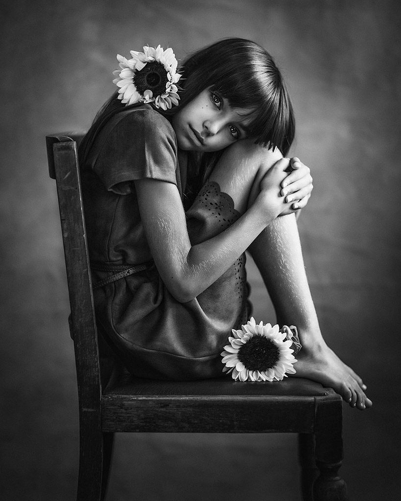 Керль, © Полина Дучман, Великобритания, Почётное упоминание в категории «Портрет» — 2-й тайм, Конкурс детской фотографии в чёрно-белом