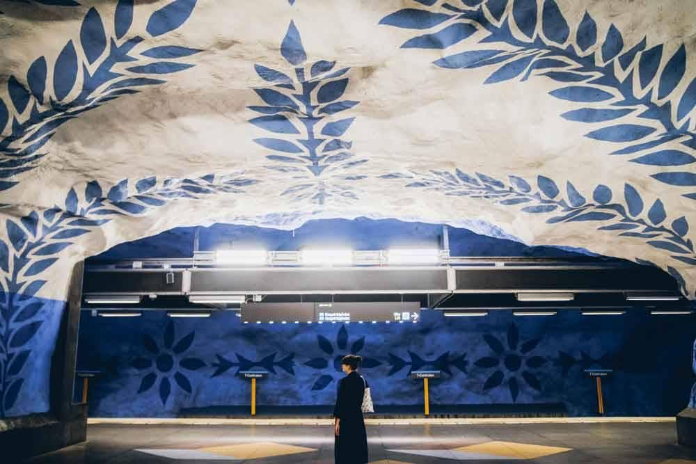 Санторини в метро. Стокгольм, Швеция, © Джастин Лим, Фотоконкурс «Городской фотограф года» — CBRE Urban Photographer of the Year