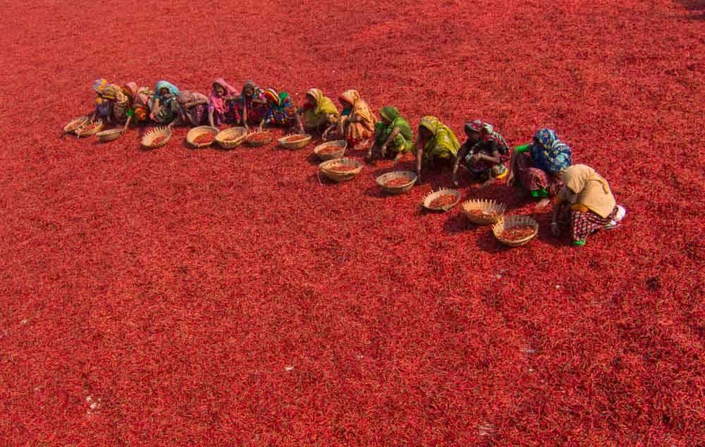Красный ковер. Богра, Бангладеш, © Азим Хан Ронни, Фотоконкурс «Городской фотограф года» — CBRE Urban Photographer of the Year