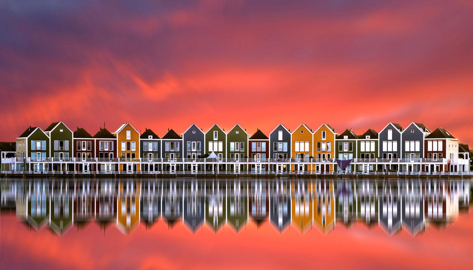 Радужные дома в Хаутене, © Кай Дидерихс, Архитектура и инфраструктура, Фотоконкурс CEWE