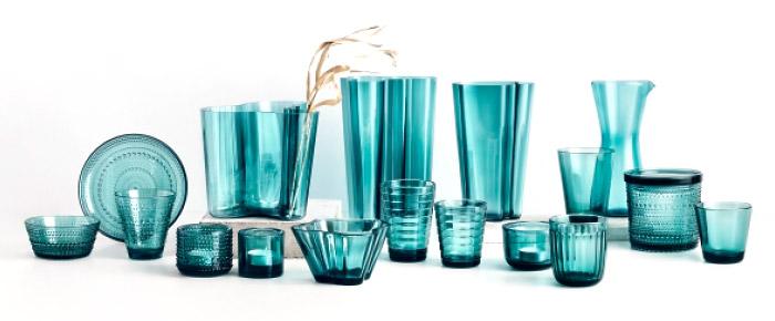 Комплект стеклянной посуды от компании Iittala стоимостью 254 €