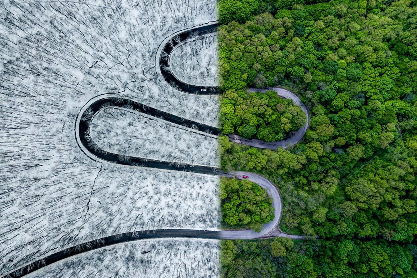 Погодная змея, © Ови Д. Поп, Победитель категории, Конкурс фотографий с дрона DrAw