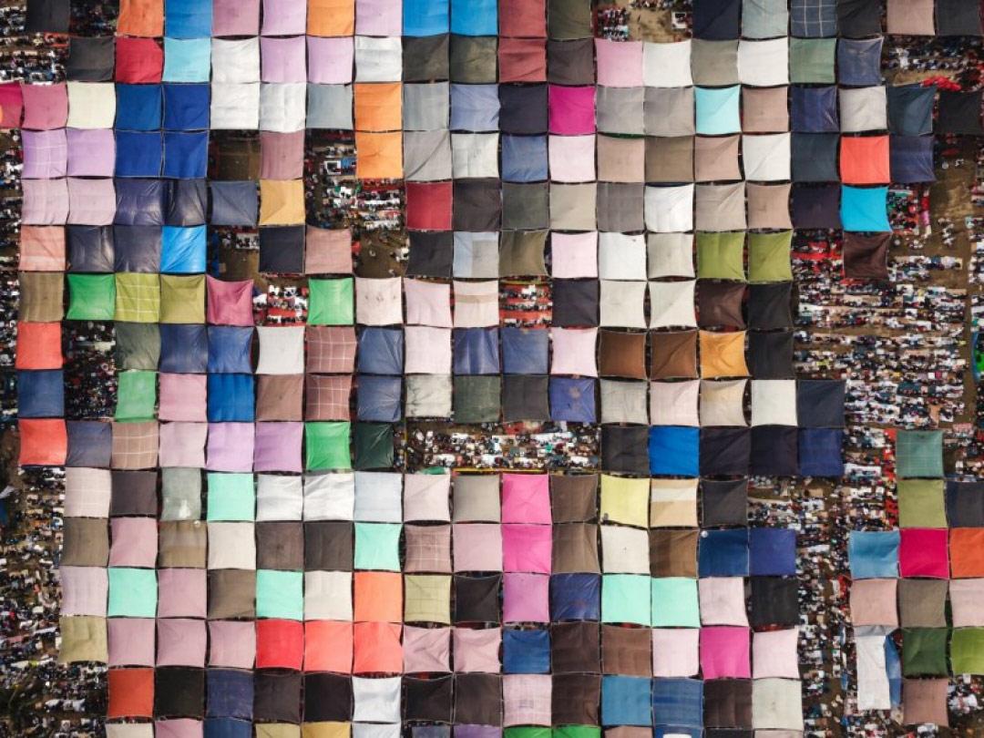 Паломничество миллионов людей, © Цинхуа Шуй, Победитель категории, Конкурс фотографий с дрона DrAw