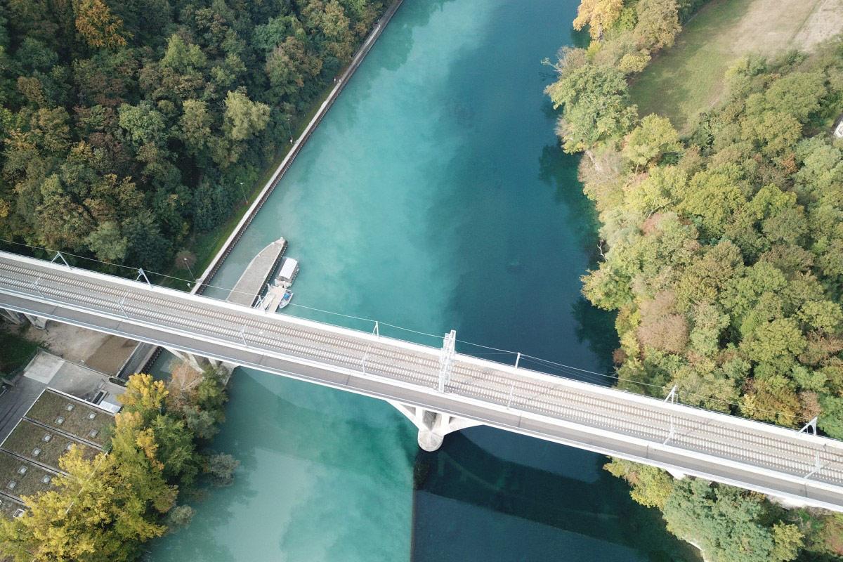 Женевское соединение - смешение воды, © adriengros, Конкурс фотографий с дрона Dronestagram