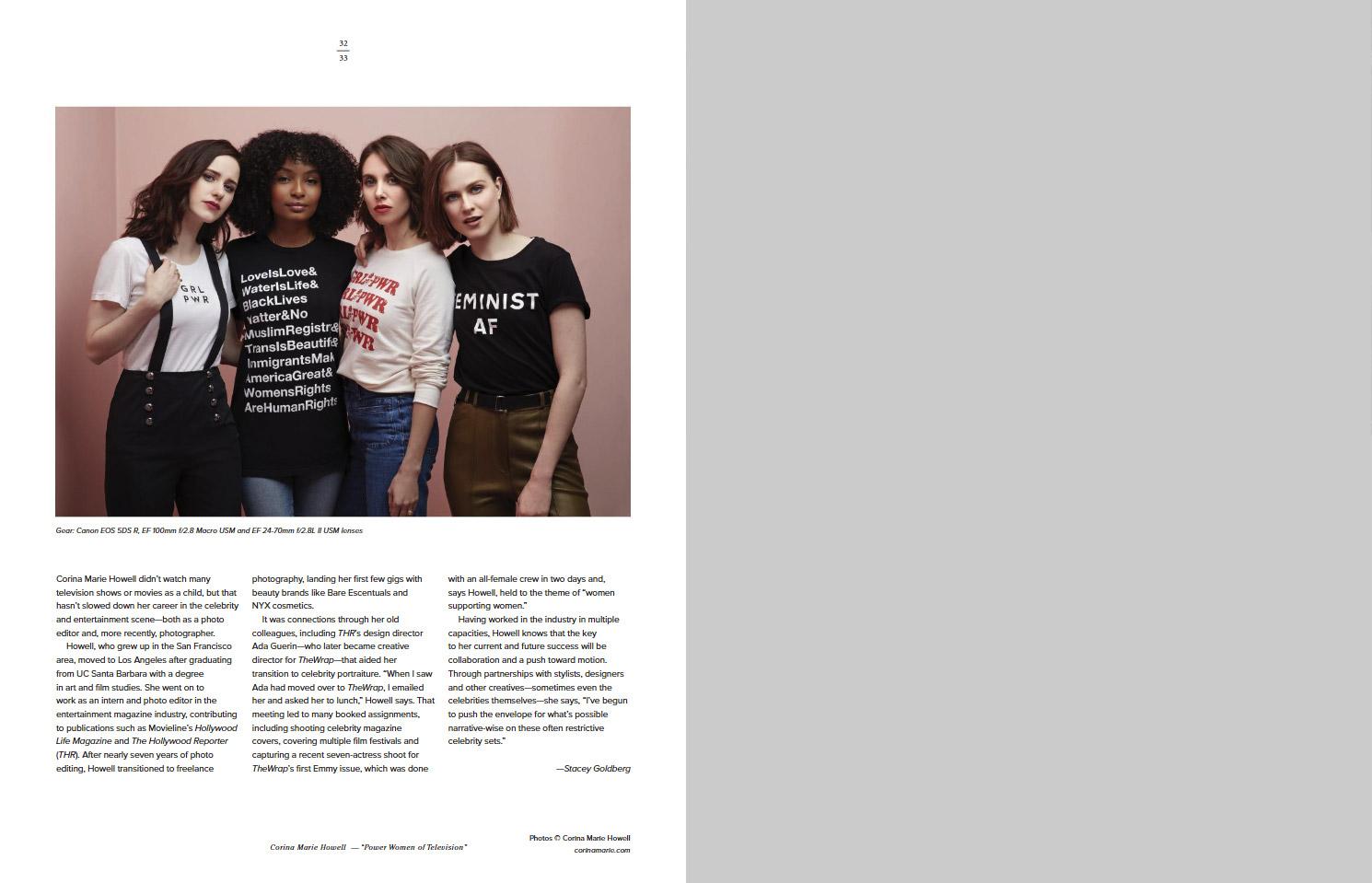 Власть женщины на телевидении © Корина Мари Хауэлл, Фотоконкурс «Начинающий фотограф» — Emerging Photographer