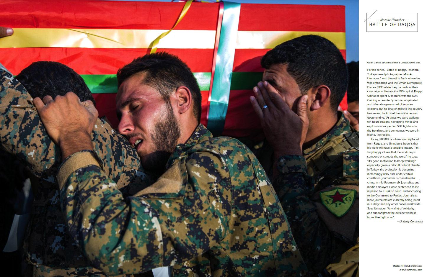 Битва за Ракку, © Морук Умнабер / Morukc Umnaber, Фотоконкурс «Новый фотограф» / Emerging Photographer