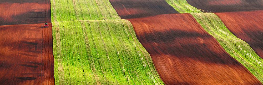 Тяжелая работа тракториста, © Ян Шмид, Победитель категории «Панорама» (профессионал), Фотоконкурс Fine Art