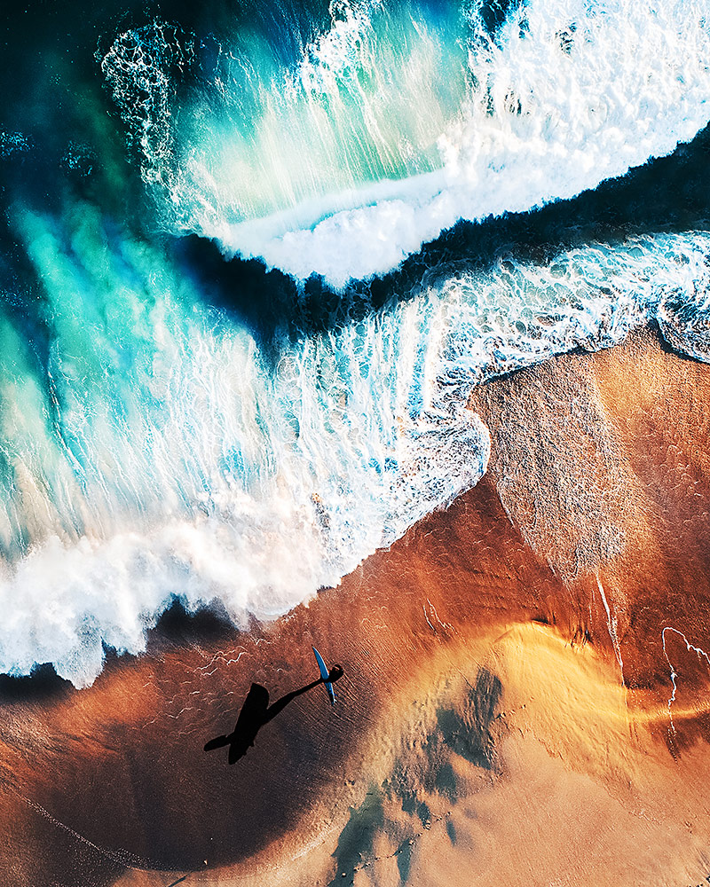 Сёрфингист, © Эмили Казтон, Победитель категории «Морской пейзаж» (профессионал), Фотоконкурс Fine Art