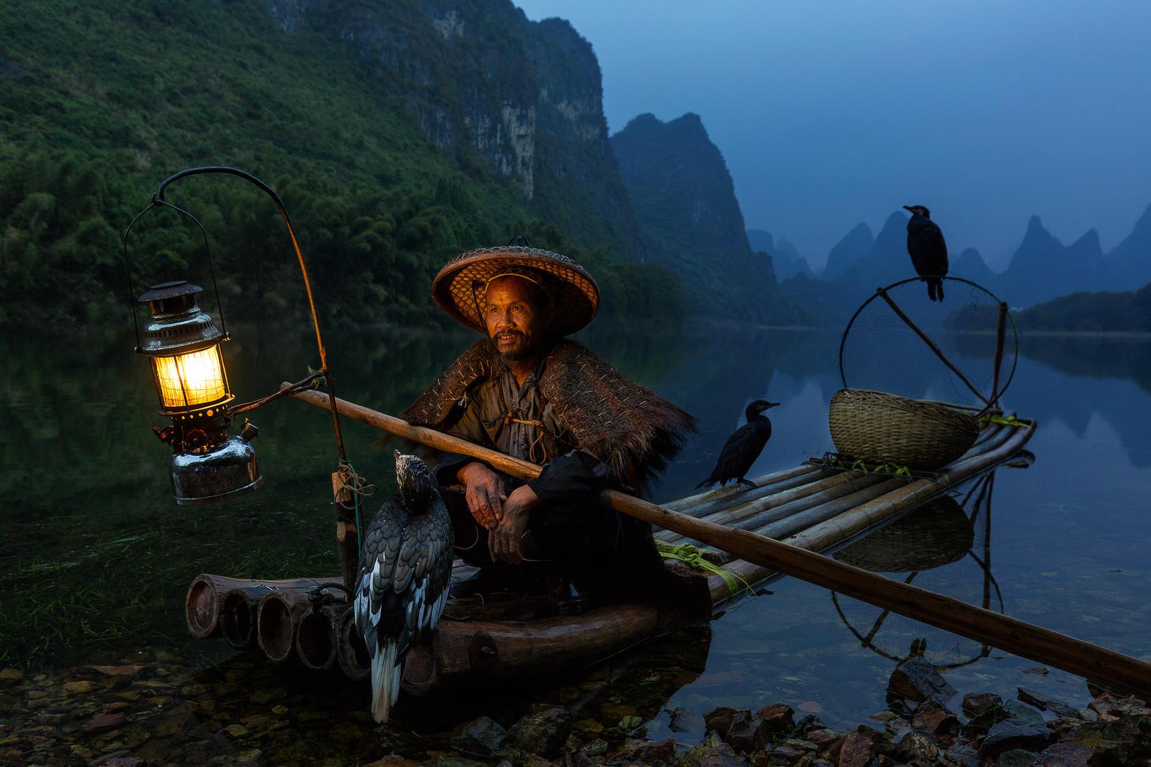 Рыбак с бакланами, © Дуангмон С., 3 место зрительного голосования, Фотофестиваль FIX