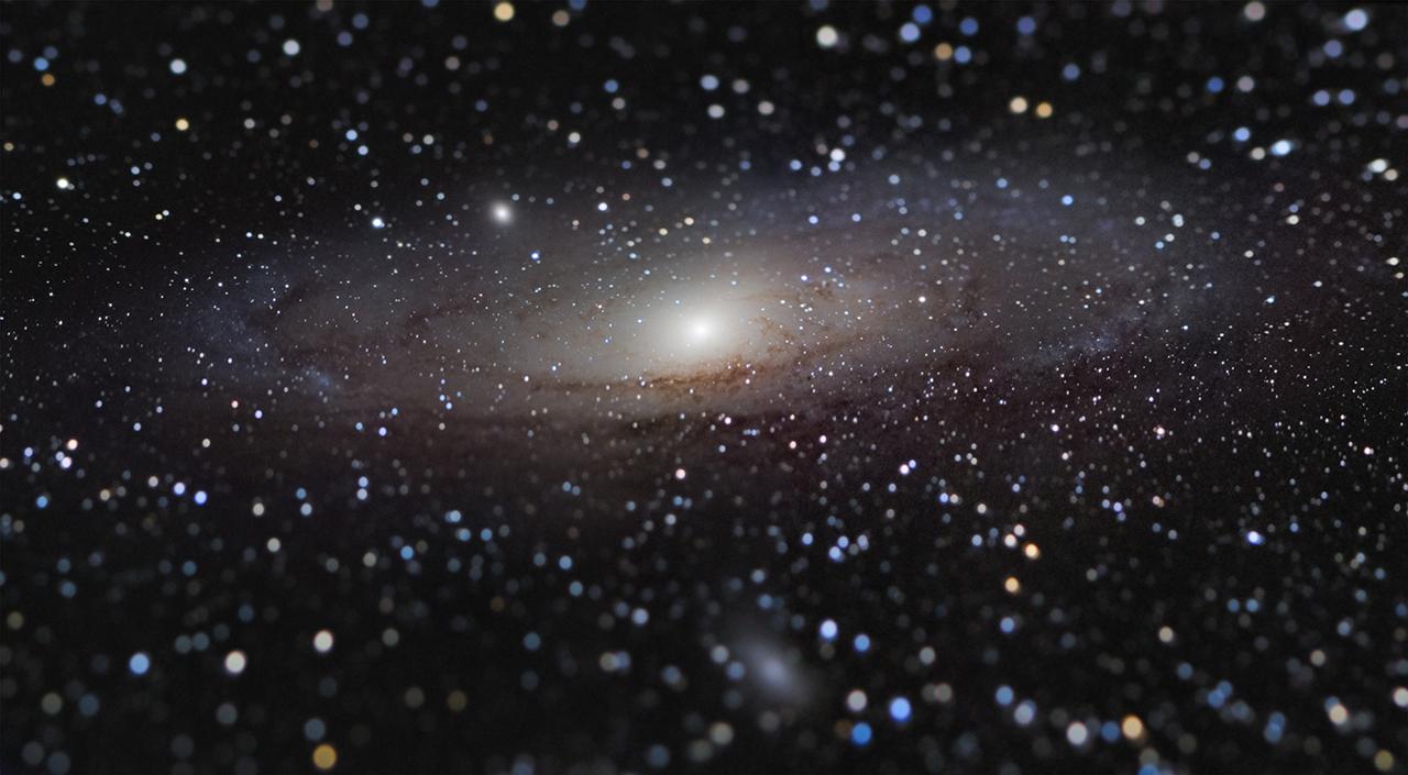 Галактика Андромеды на расстоянии вытянутой руки © Nicolas Lefaudeux