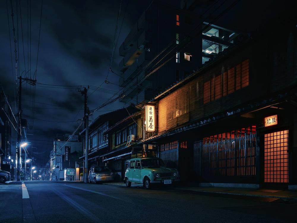 Ночь Киото, © Ан Жен, Конкурс мобильной фотографии Huawei