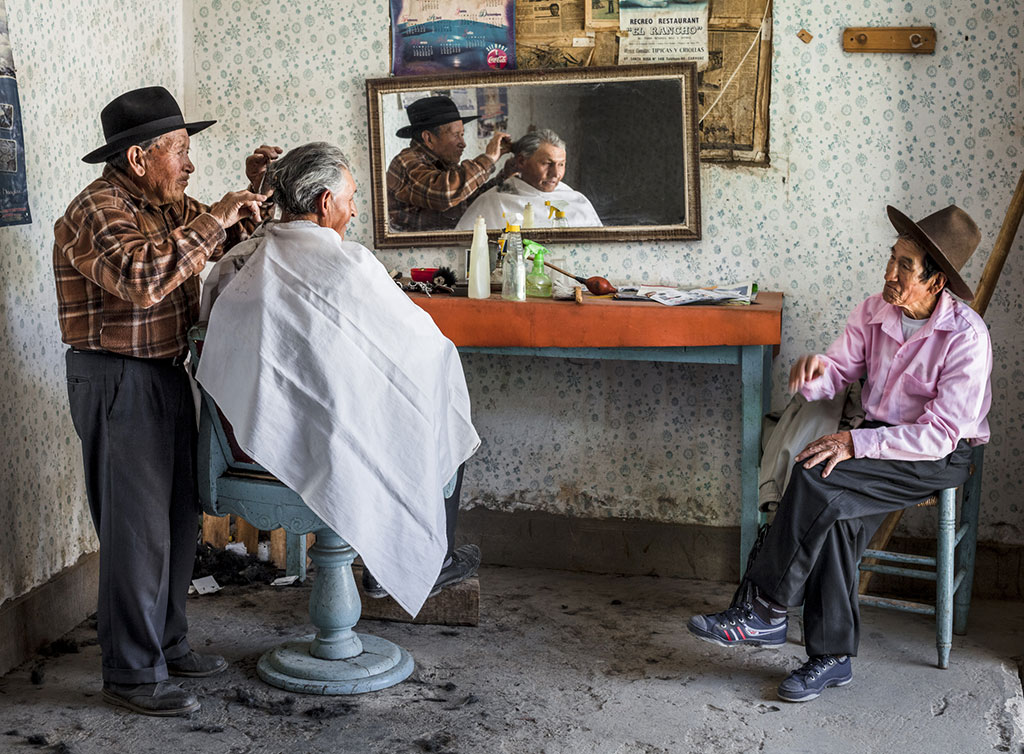 Разговор в парикмахерской, © Дэвид Мартин Хуамани Бедоя, Фотоконкурс Ikei