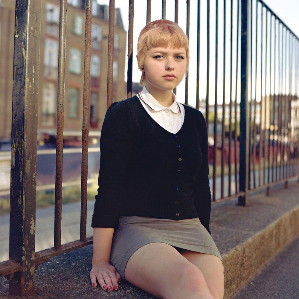 Молодая девушка-скинхед, Лондон, © Оуэн Харви / Owen Harvey, Великобритания, 2 место в категории «Одиночное изображение», Фотоконкурс «Портрет» — LensCulture Portrait Awards