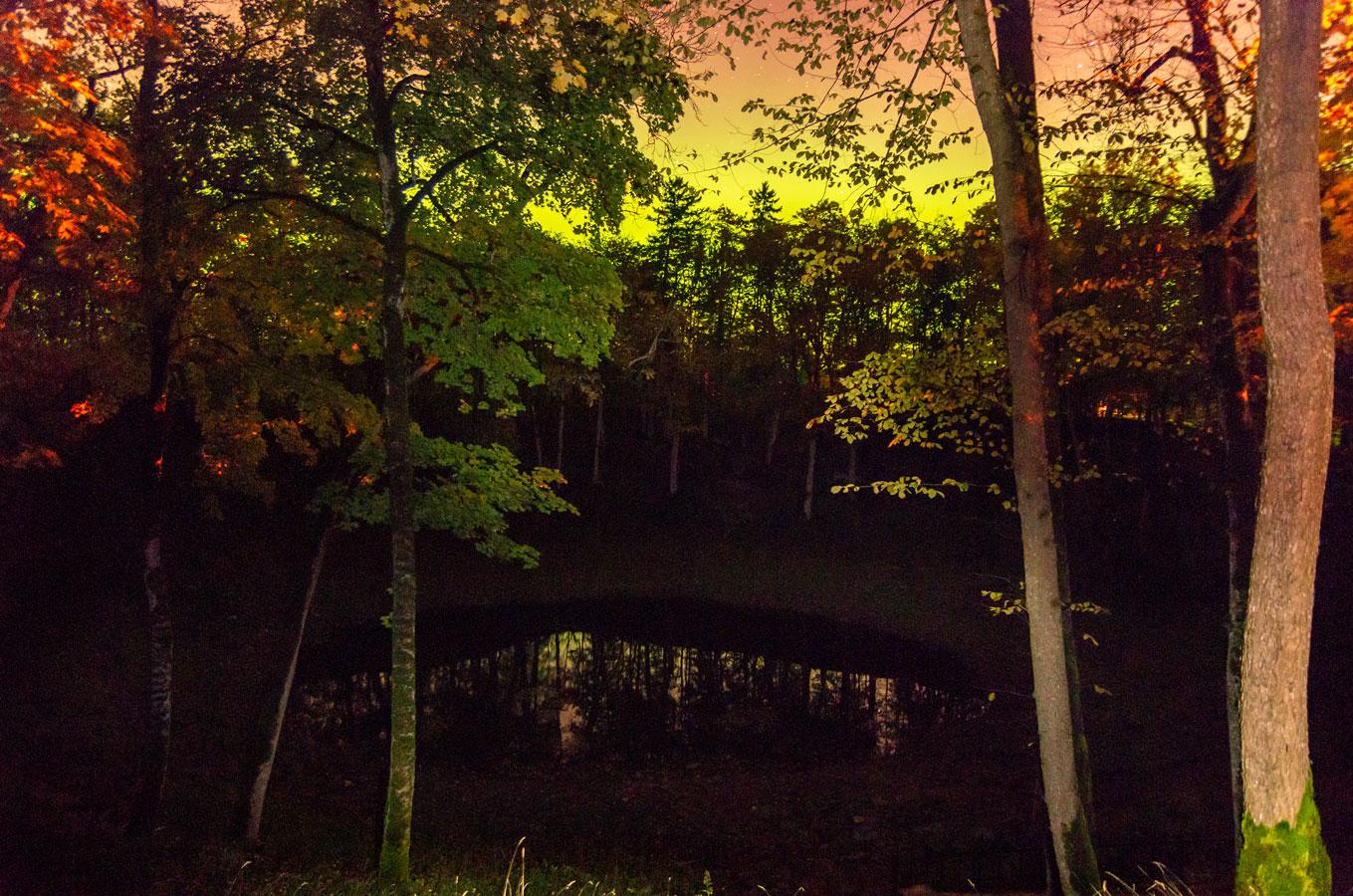 Озеро Каали и северное сияние, © Марко Пальм, Фотоконкурс «Священные природные места»