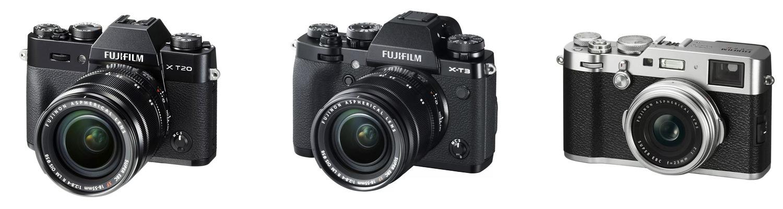 Фотокамеры FujiFilm X-T20, FujiFilm X-T3, Fujifilm X100F