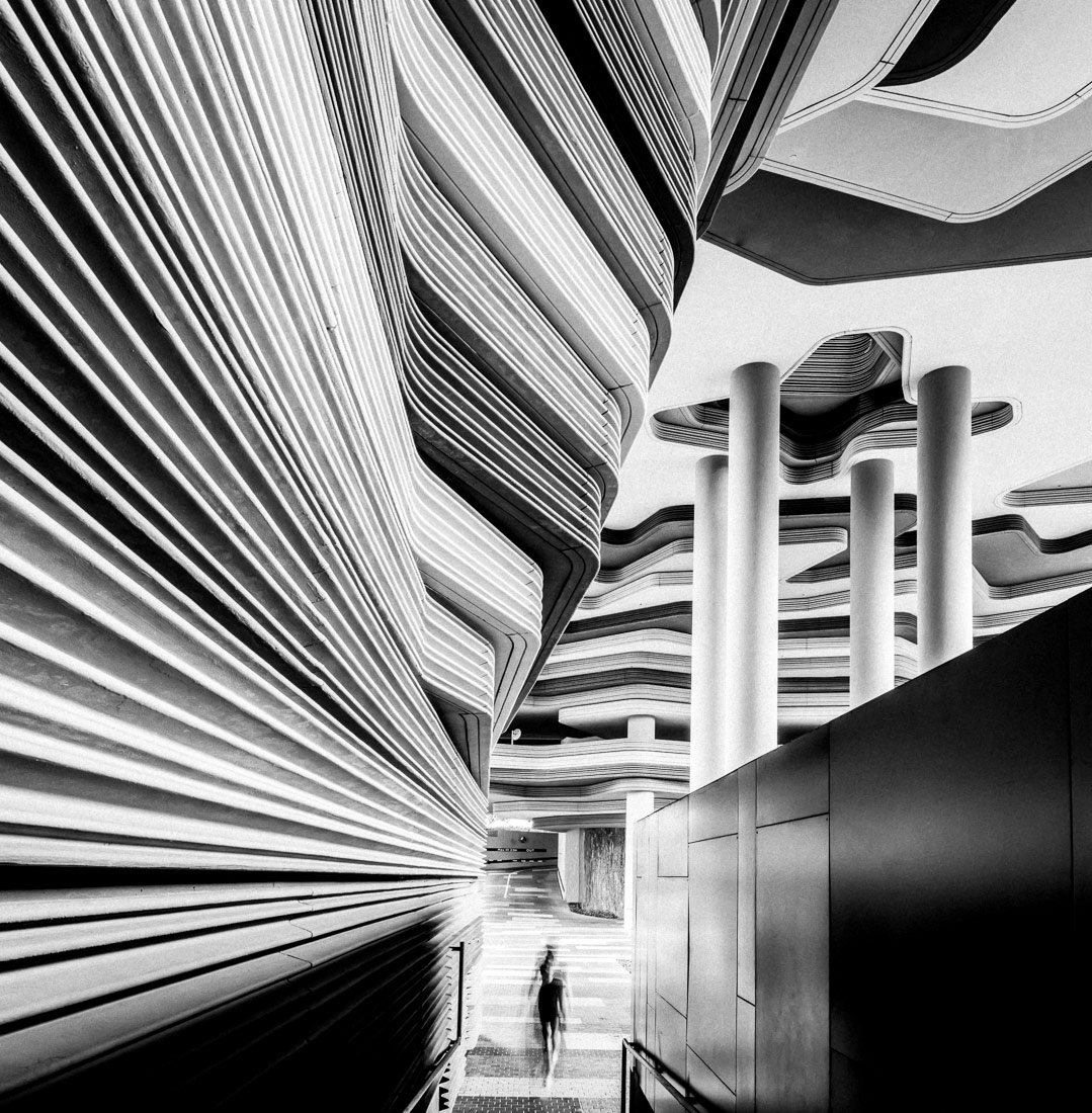 Современная архитектура, Сингапур, © Майк Холмен, 1-е место в категории «Архитектура», одиночное фото, Конкурс чёрно-белой фотографии MonoVisions