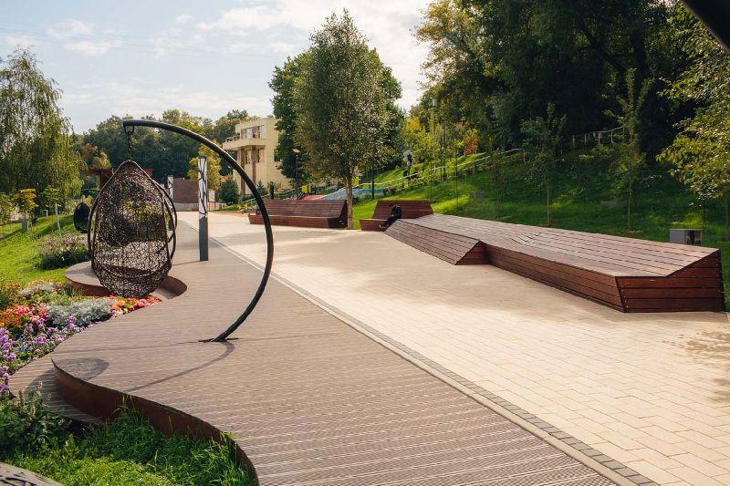 Парк у набережной реки Цыганки