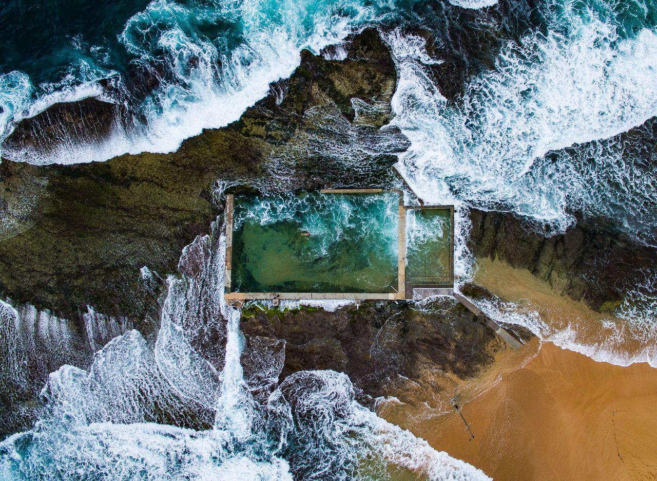 Бассейн в скалах, © Тодд Кеннеди / Todd Kennedy, 1 место в категории «Воздушная», Фотоконкурс Nature Photographer of the Year Contest