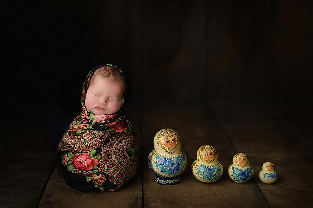 Матрёшка, © Анастасия Фольман, Германия, Фотоконкурс новорожденных