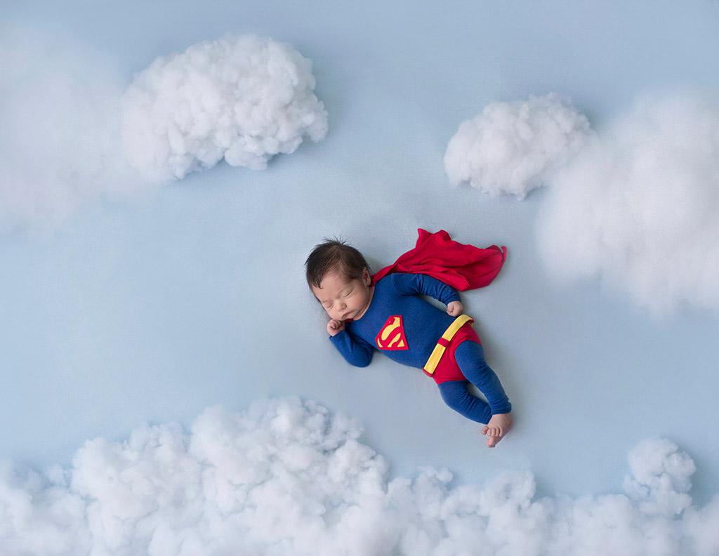 Маленький Супермен, © Вероника Тебан, Испания, Фотоконкурс новорожденных
