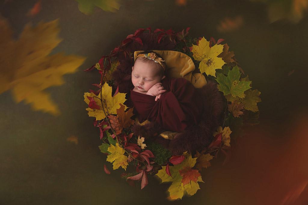 Осенний ребенок, © Наталия Пипкина, Норвегия, Фотоконкурс новорожденных
