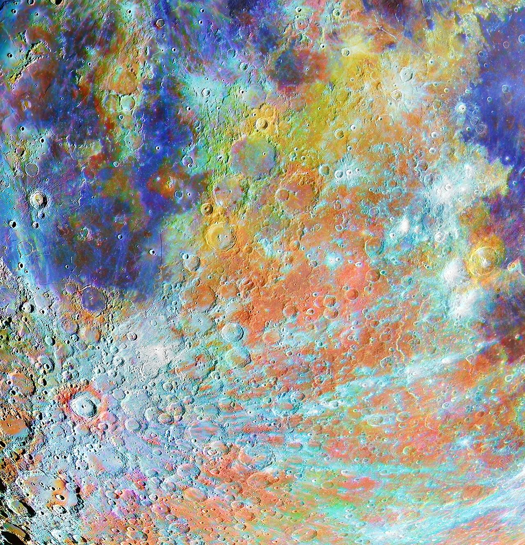 Кратер Тихо в кратере с красками © Ален Пайю