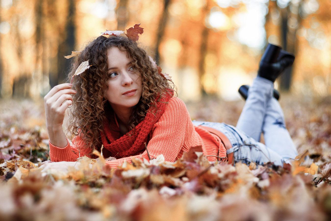 В осеннем парке городском..., © Дмитрий Давыдов, Фотоконкурс «Осенний портрет»