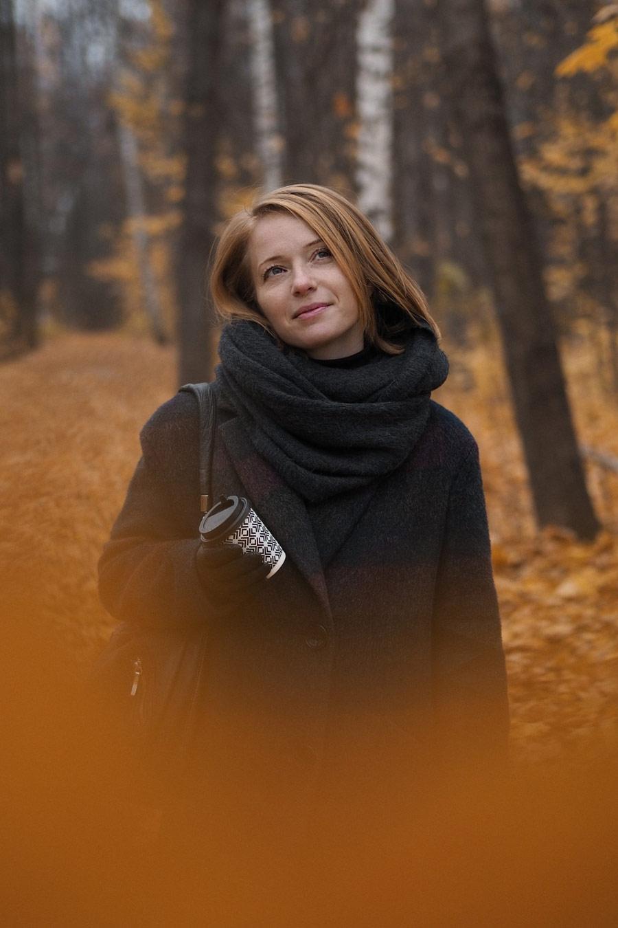 — Мне кофе с осенью..., © Анастасия Домолазова, Фотоконкурс «Осенний портрет»