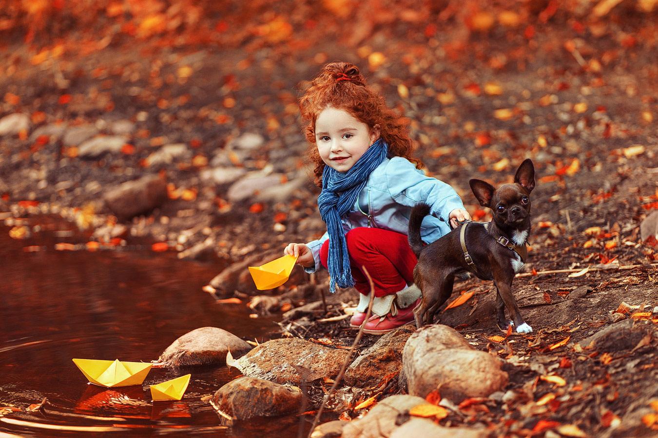 Осенняя прогулка, © Ольга Шулина, Фотоконкурс «Осенний портрет»