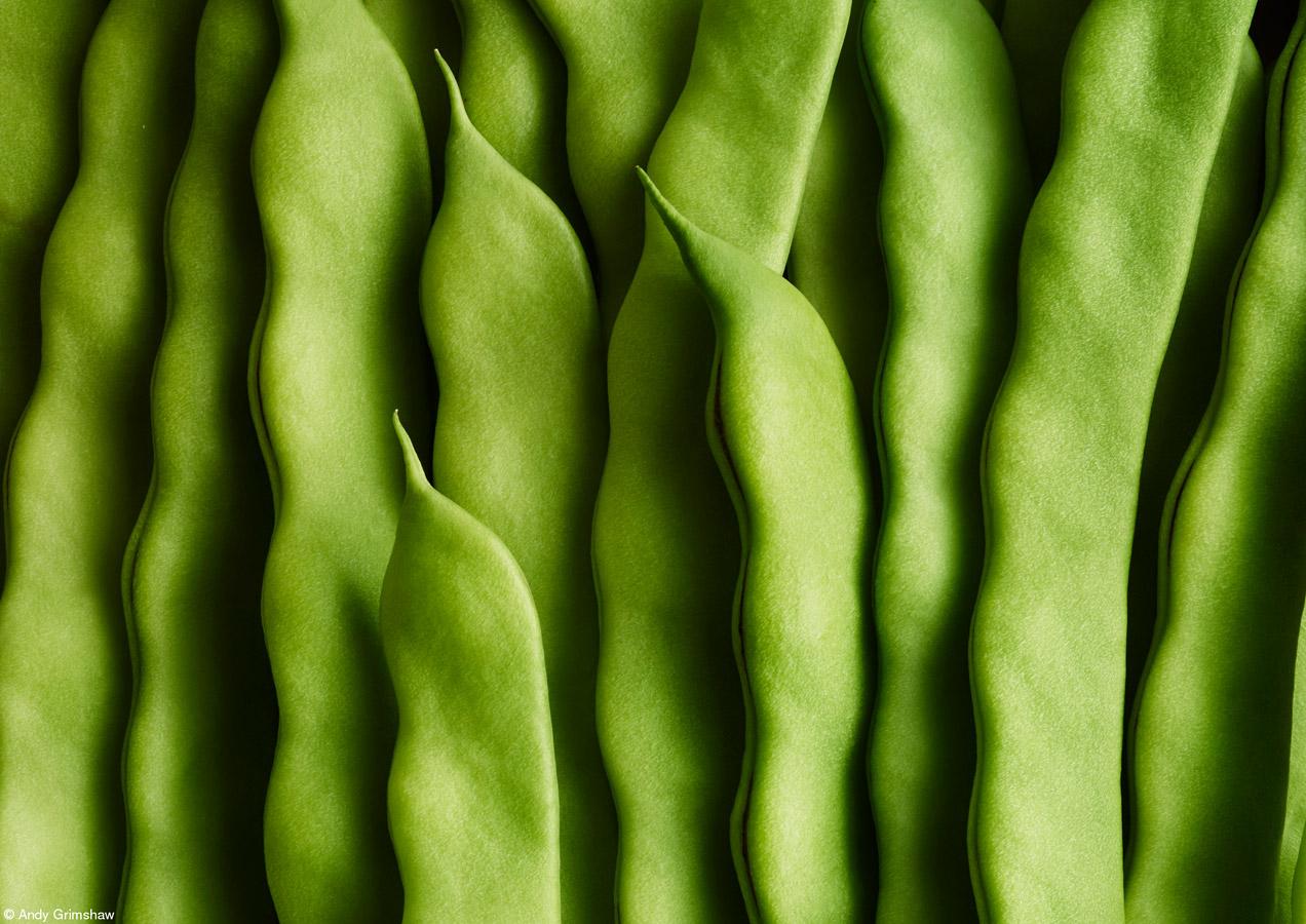 Зеленая фасоль, © Энди Гримшоу, Великобритания, 1-е место, категория «Один срез культуры в одном кадре», Фотоконкурс Pink Lady Food