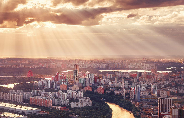 Москва с высоты птичьего полета, © Анастасия Мазурева, 3 место в номинации «Пейзаж», Фотоконкурс «Планета Москва»