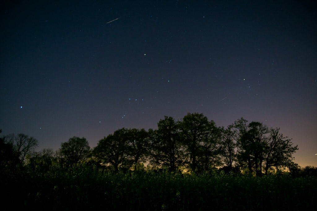 Поля Турнан-ан-Бри, Франция, © Элиотт Бурже, Финалист категории «Молодёжная», Фотоконкурс «Ночной пейзаж» — Photo Nightscape Awards