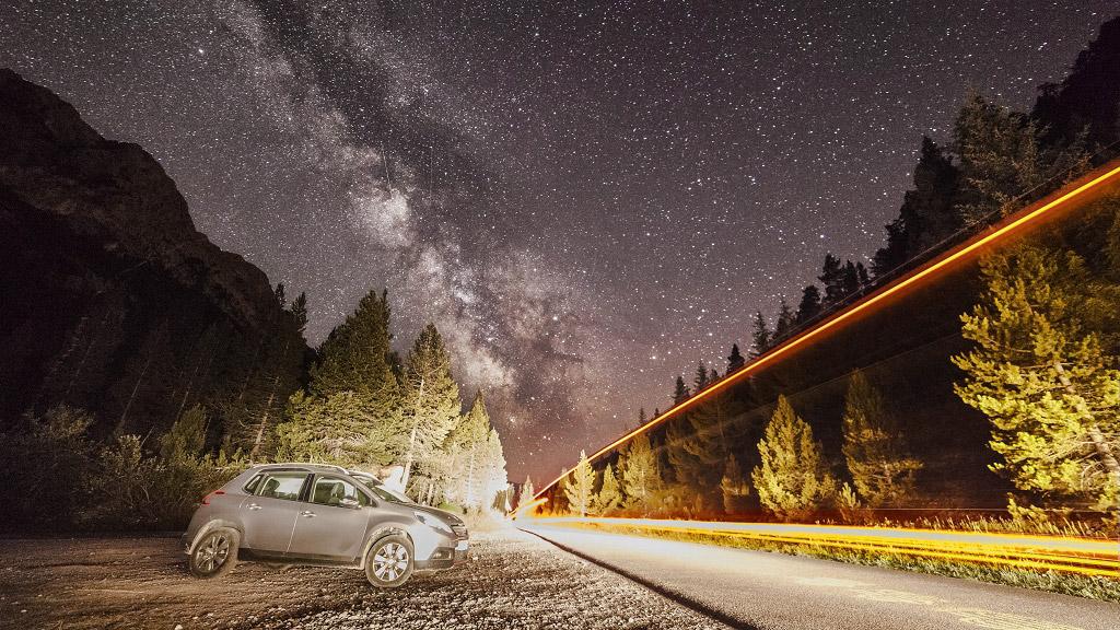 Путь света в небеса, Франция, © Юстин Галант, Финалист категории «Молодёжная», Фотоконкурс «Ночной пейзаж» — Photo Nightscape Awards