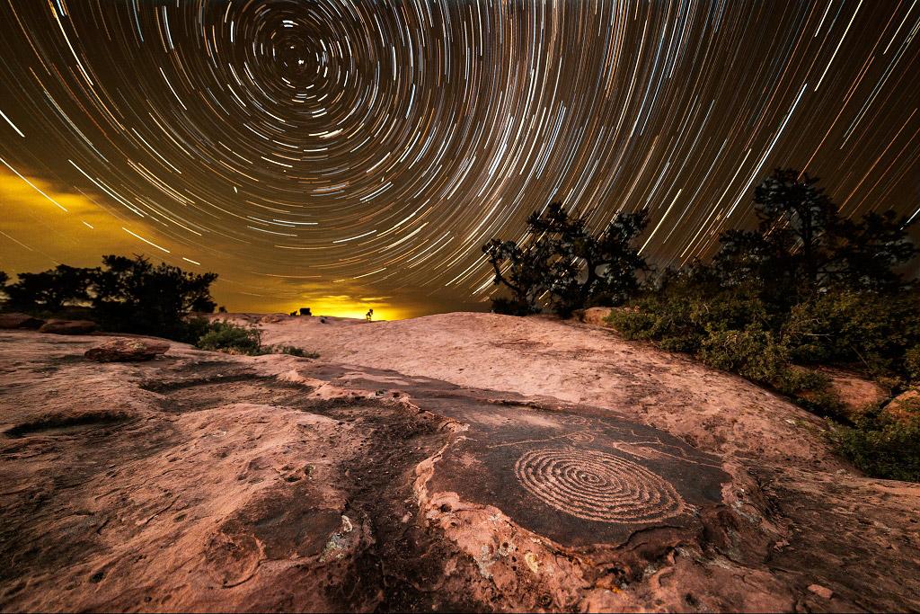 Спирали на плато, США, © Марк Тосо, Финалист категории «Ночной пейзаж», Фотоконкурс «Ночной пейзаж» — Photo Nightscape Awards
