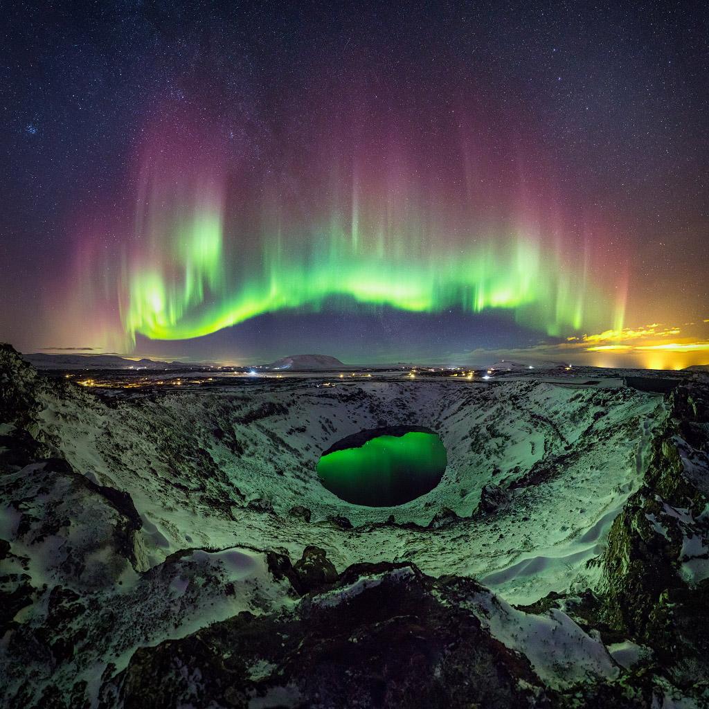 Северное сияние в Сюдюрланд, Исландия, Финалист категории «Ночной пейзаж», © Сигурдур Уильям Бриньярссон, Фотоконкурс «Ночной пейзаж» — Photo Nightscape Awards