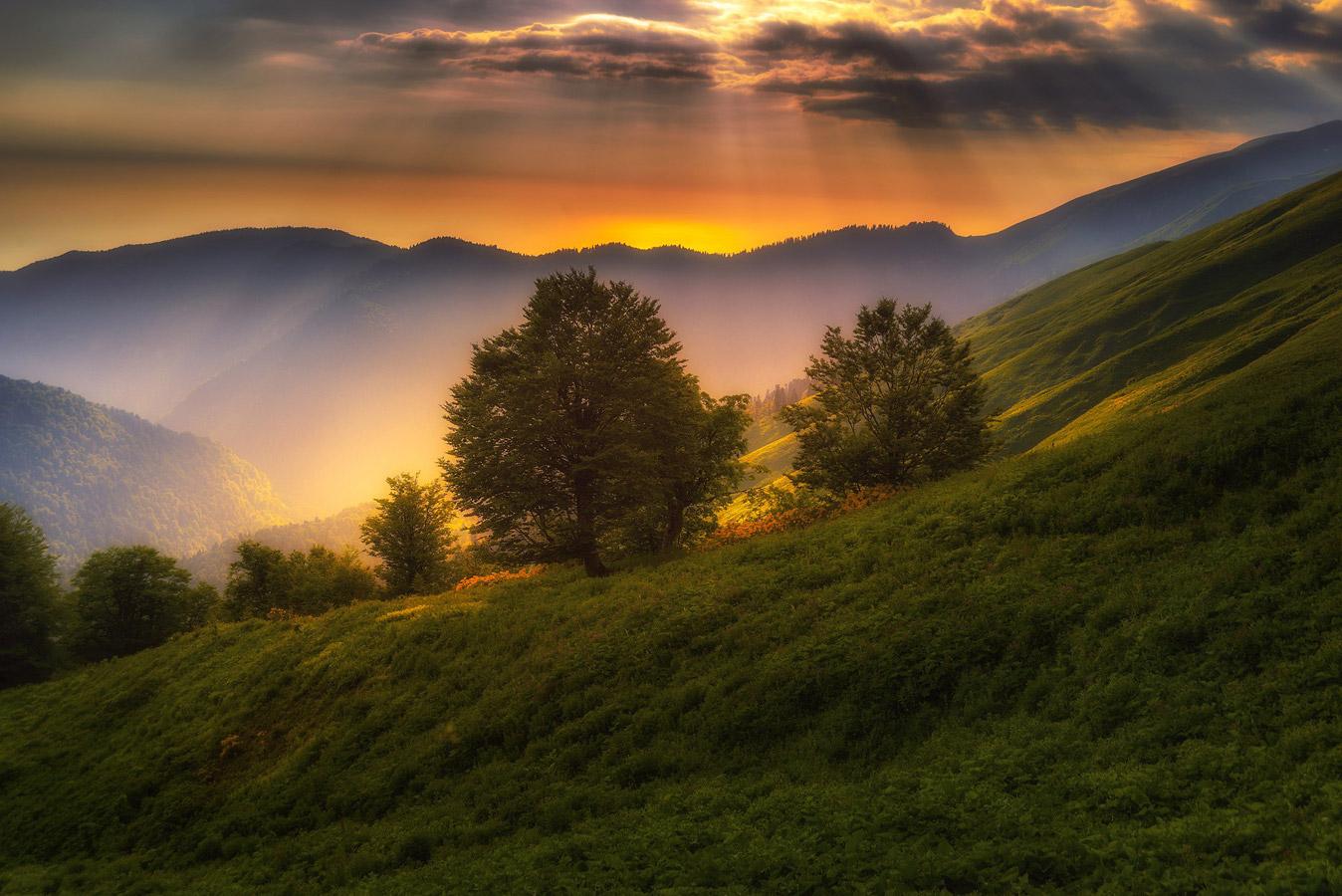 В лучах заката, Красная поляна, © Илья Бунин, 2 место, Фотоконкурс «Русская цивилизация»