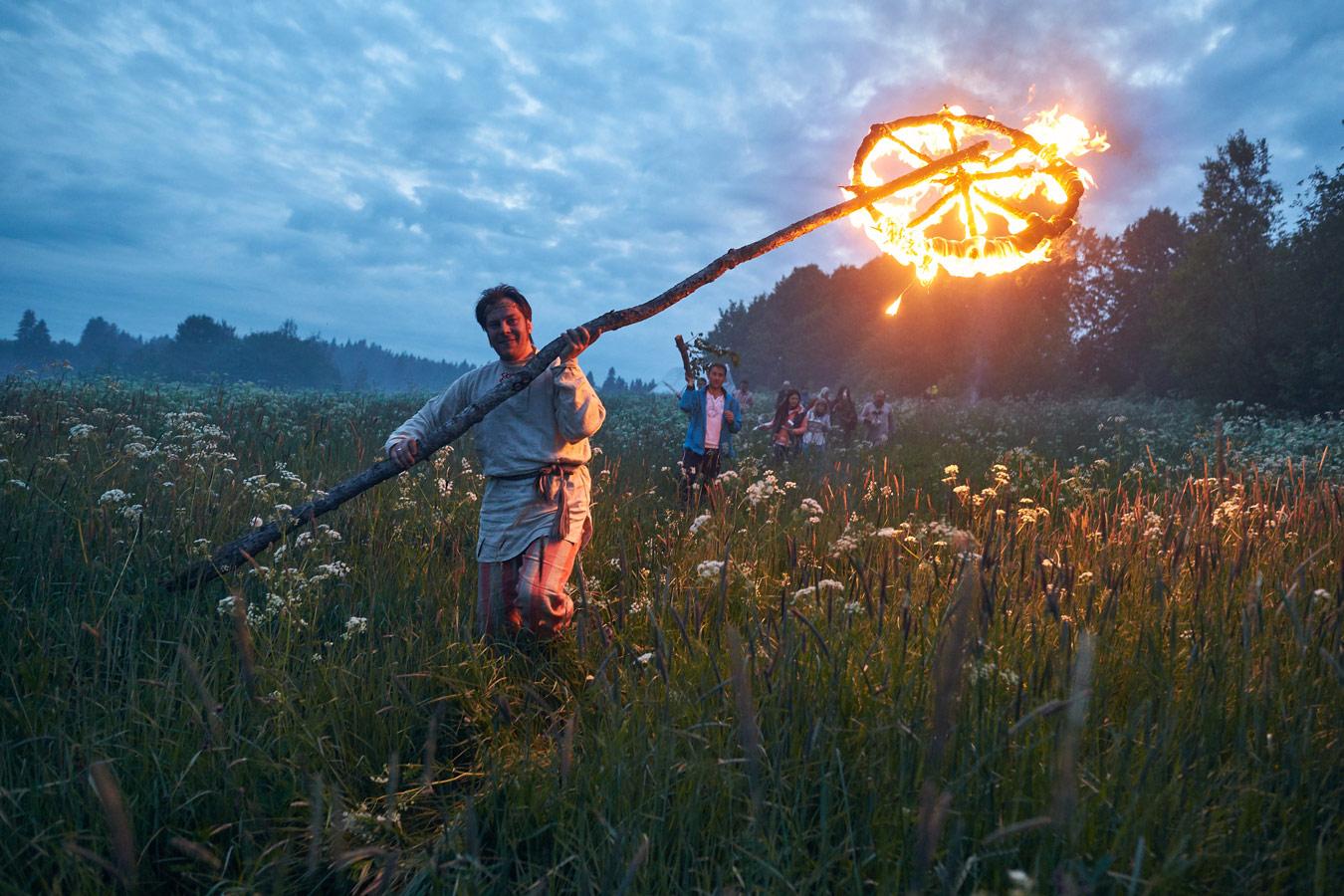 Движение годового колеса, Куркиеки, Карелия, © Юлия Лилишенцева, 1 место, Фотоконкурс «Русская цивилизация»